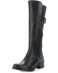 Charles David Hilda Leather Gored Mid Calf Boot Black