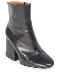 Maison Margiela Leather Chunky Heel Mid Calf Boots