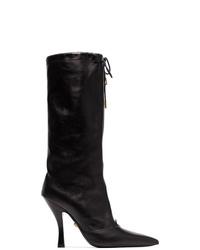 Versace Mid Calf Zip Boots