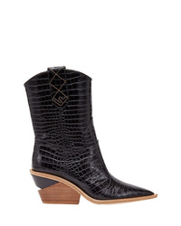 Fendi Pointed Toe Cowboy Booties