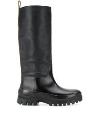 Jil Sander Ridged Sole Mid Calf Boots