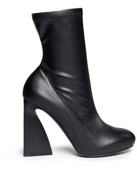 Stella McCartney Triangle Block Heel Mid Calf Boots