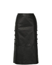 Olivier Theyskens Clasp Side Midi Skirt