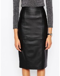 9e30202dd4 Asos Collection Midi Pencil Skirt In Leather, $138 | Asos ...