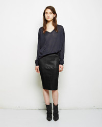 Isabel Marant Devon Leather Skirt