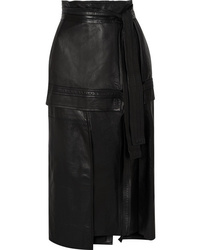 3.1 Phillip Lim Leather Midi Skirt