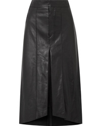 Isabel Marant Nehora Pleated Leather Midi Skirt