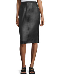 Rag & Bone Phoebe Lamb Leather Pencil Skirt Black