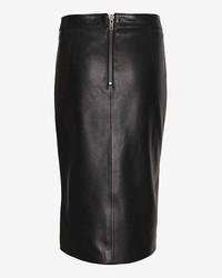 9522ac46d5 ... Mason by Michelle Mason Zippered Front Slit Leather Pencil Skirt ...