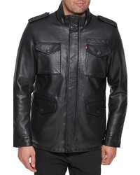Levi's Faux Leather Military Jacket