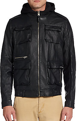 Veste simili cuir members only