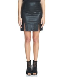 1 STATE 1state A Line Faux Leather Miniskirt