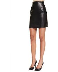 ADAM by Adam Lippes Adam Lippes Short Leather Wrap Skirt Black