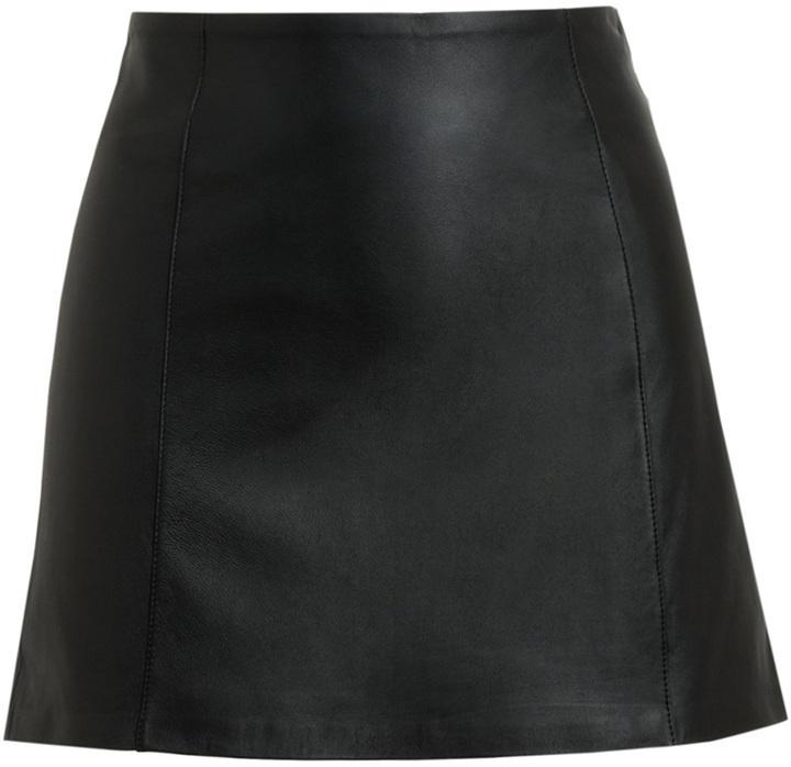 Alexander Wang T By Black Leather Miniskirt
