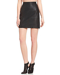French Connection Athena Jet Faux Leather Skirt