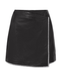 Stand Aviva Leather Wrap Mini Skirt