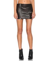 Anine Bing Biker Leather Skirt