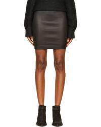 Helmut Lang Black Stretch Leather Plonge 2 Skirt