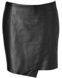Helmut Lang Bonded Leather Mini Skirt