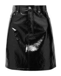 Helmut Lang Crinkled Patent Leather Mini Skirt