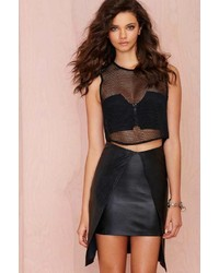 Jaggar Factory Black Mamba Leather Skirt