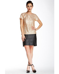 French Connection Fast Jet Athena Faux Leather Skirt