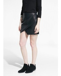 Mango Outlet Faux Leather Origami Skirt