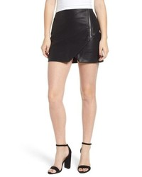BLANKNYC Faux Leather Zip Miniskirt