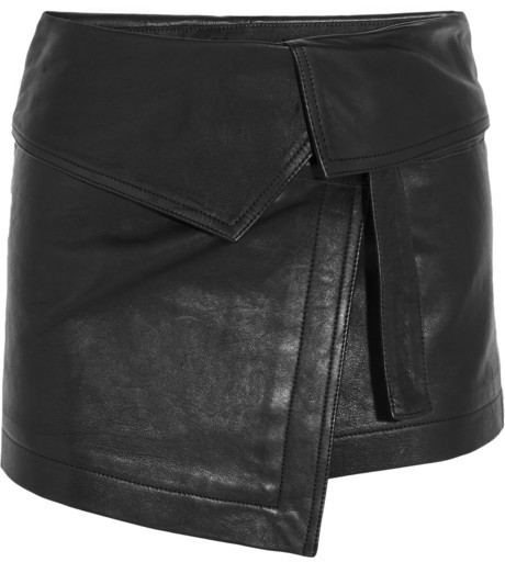 Isabel Marant Hutt Leather Wrap Mini Skirt | Where to buy & how to ...