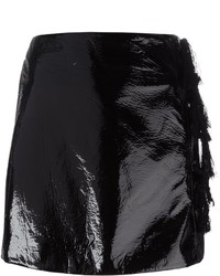 Kenzo Faux Patent Leather Mini Skirt