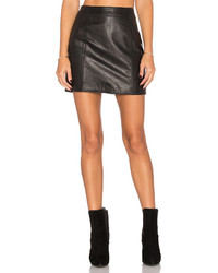 Lacademie The Leather Mini Skirt In Black