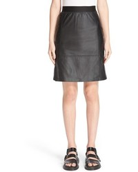 Public School Lambskin Leather Miniskirt