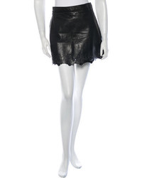 Rag & Bone Lasercut Leather Mini Skirt