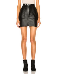 Saint Laurent Leather Mini Skirt