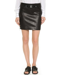 Versus Leather Miniskirt