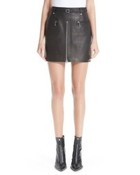 Alexander Wang Leather Moto Skirt
