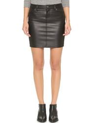 Current/Elliott Leather Skinny Mini Skirt
