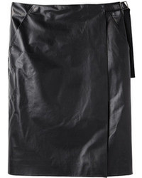 Proenza Schouler Leather Wrap Skirt