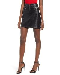 TIGER MIST Lennon Faux Leather Miniskirt