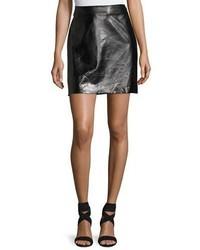 Milly Lightweight Leather Miniskirt