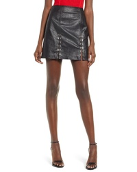 BLANKNYC Limitless Faux Leather Miniskirt