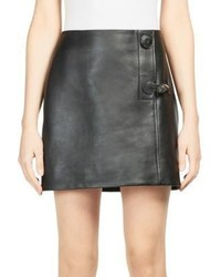 Acne Studios Lise Leather Mini Skirt