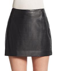 Theory Merlock L Motiva Leather Skirt