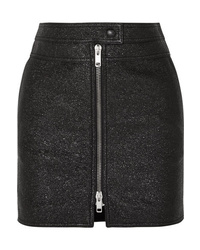 Givenchy Metallic Textured Leather Mini Skirt