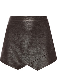 Michelle Mason Lizard Effect Leather Mini Skirt