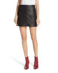 Rag & Bone Mila Lambskin Leather Miniskirt