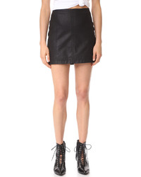 Free People Modern Femme Vegan Miniskirt