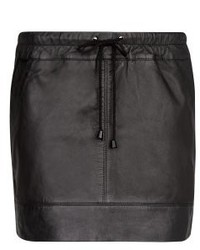 Mango Outlet Leather Miniskirt