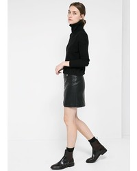 Mango Outlet Outlet Faux Leather Skirt