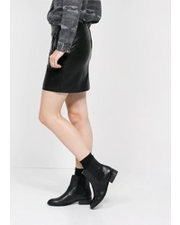 Mango Outlet Outlet Faux Leather Wrap Skirt